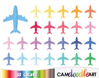 50 Airplane Clipart,Plane Icon,Travel Clipart,Holiday Clipart,Plane Sticker,Aeroplane,Scrapbooking,Planner Clipart,Sticker Clipart,png file