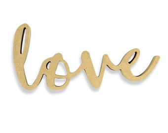 Wedding Sign | Love | Love Sign | Love Wood Sign | Unfinished Word Cutout | DIY Words | Word Cutouts | Word Cut Out