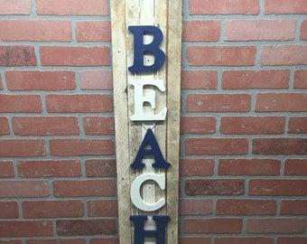 Rustic Beach, beach decor, sign