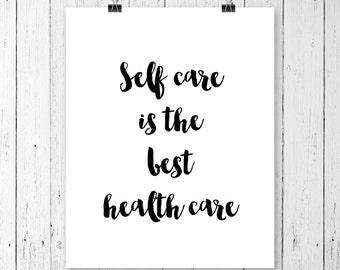 Self care, Mental health, Self care gifts, Treat yo self, Yoga studio decor, Home decor, Yoga wall prints, Minimalist poster, Printable