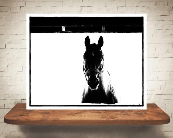 Horse Photograph - Equine Pictures - Fine Art Print - Black White Photography - Home Wall Decor - Wall Art - Farm House Decor - Horses