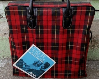 Sale! Aladdin Ala Diner Outing Kit Old New Stock Thermos Picnic Set in Plaid Bag