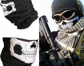 SAVAGES movie half skull bandana mask biker airsoft paintball neck gaitor ski snow board rave Skull Bandana Bike