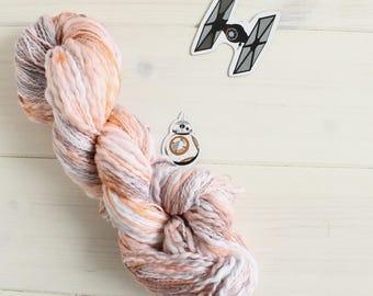 BB-8 Bit - Star Wars themed hand dyed yarn - 100% cotton - fingering weight - 50g skein