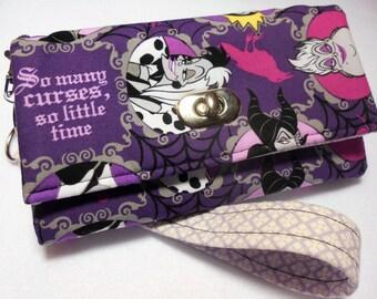 Disney Villains Wristlet, Disney Villains Wallet, Disney gifts, Disney Villains purse, Disney wallet, Disney wristlet, women's gifts, wallet