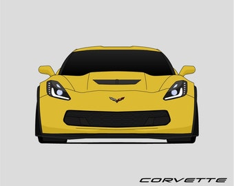 Chevy Corvette C7 Poster // Z51 // Z06 // Stingray // LT1