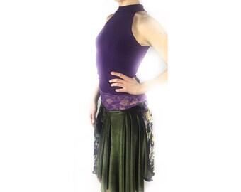 Argentine tango skirt, velvet skirt