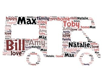 Personalised RV Recreational Vehicle Bespoke Unique -  Word Art  Print Any Occasion - Any colour
