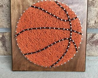 Custom Made to Order Basketball String Art