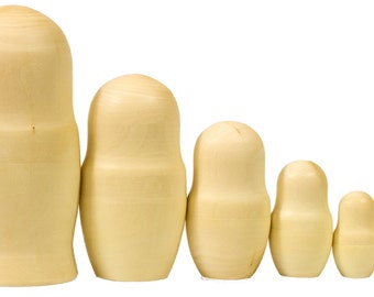 Blank Nesting dolls - Lot of 10 - Wooden UnPainted - BIG SIZE - 8 inch-high (7 dolls in 1)