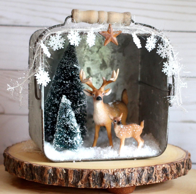 Rustic Christmas Decorations Christmas Diorama Christmas