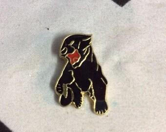 Growling Black Panther Pin