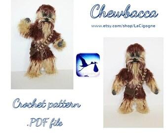 Star wars amigurumi crochet pattern. Chewbacca pattern. Crochet amigurumi pattern.Handmade toy. Star wars. Chewbacca. Cinema. LaCigogne toys