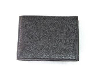 NEW COLLECTION-genuine leather men's wallet with coin purse. Black color. Flip door licence. Double pocket for banknotes.