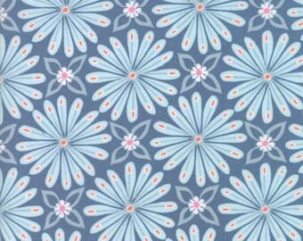 Moda Fabric - Early Bird Aurora - Denim - 27262 15 - Cotton fabric by the yard