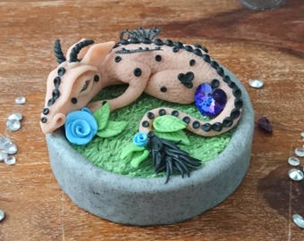 Dragon, Dragon sculpture, fantasy art, Swarovski Crystal, birthday gift, gift, home decor