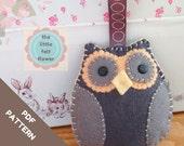 Felt Owl Pattern-Christmas Felt pattern-Felt Owl PDF-Owl decoration-Owl sewing patterns