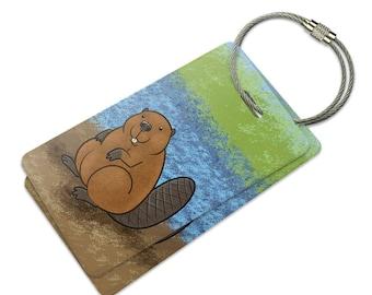Beaver Suitcase Bag Id Luggage Tag Set