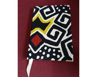 African Wax Fabric Notebook -- Ankara Notebook -- Ankara Journal