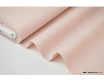 Fabric washed linen pink powder for making x50cm