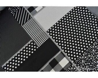 Popeline coton imprimé patchwork par 50cm