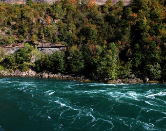 Niagara Gorge in Autumn Print