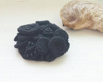 Black brooch boho