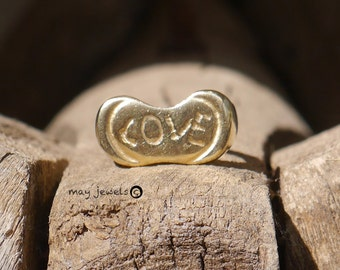 Love ring/ heart/ 14k/ solid gold/ gold ring/ heart ring/ love/ anniversary /gift/ wedding/