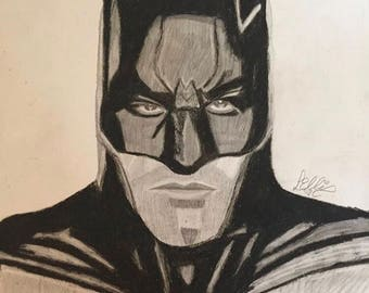 Batman pastel portrait hand made