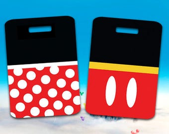 Mickey and Minnie Mouse Luggage Tags