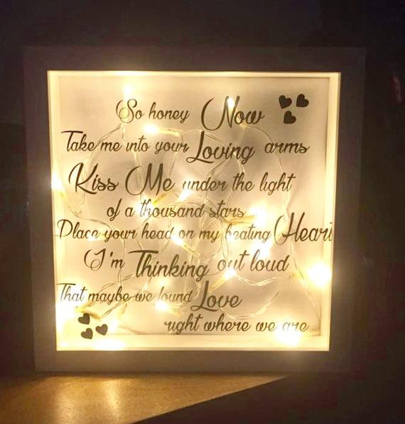 Wedding Present Box Elder Lyrics : Loud Lyrics, Ed Sheeran Lyrics, Wedding Gift, Gift for Couple, Wedding ...