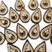 Black appliques, black Indian applique, tikka applique, embroidery appliques, saree decoration, rhinestone saree patches, headband appliques