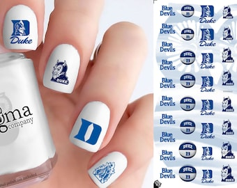 Duke Blue Devils Basketball Nail Decals (Set of 50)