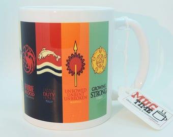 Game of Thrones Houses - Mug Cup - 320ml Ceramic