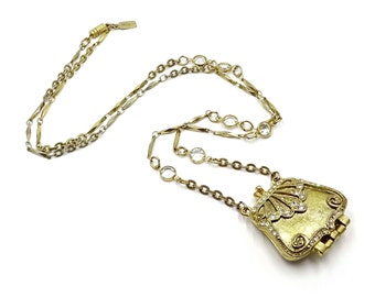 Fancy Purse Locket Necklace By 1928 Jewelry Co.