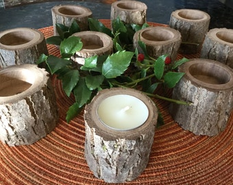 Special order of 25 rustic candle holders.