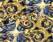 Doctor Who Exploding Tardis Cotton fabric
