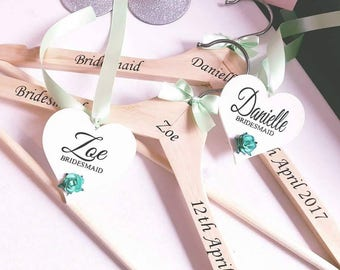 Beautiful wedding hanger with a lovely heart to match