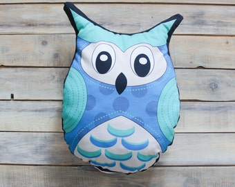 READY TO SHIP!  Blue Owl pillow toy