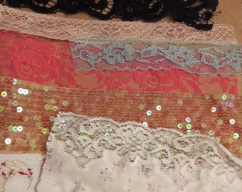 Mixed craft lace 10 pieces
