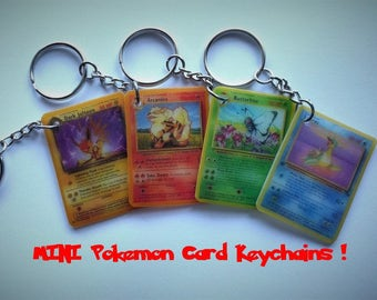 MINI Pokemon Card Keychains (IMPORTANT: See Description)