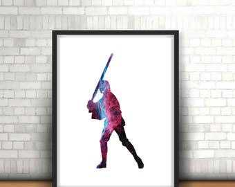Luke Skywalker Star Wars Inspired Art Print Filled With Galaxy Nebula Space