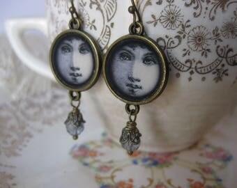 Victorian Face Earrings