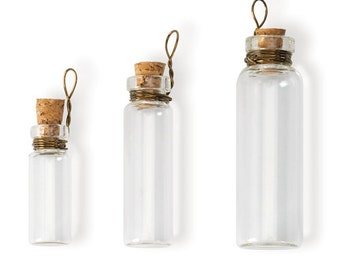 Laboratory Bottle Charms - Clear