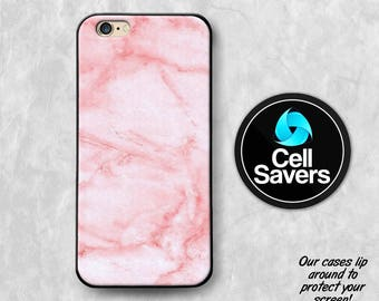 Pink Marble iPhone 6s Case iPhone 7 Plus iPhone 6 Plus iPhone 6s Plus iPhone 5c iPhone 5 iPhone SE Case Pastel Pink Mark Marble Rock Tumblr
