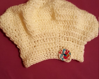 Childrens Slouch Hat with Button