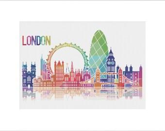 London Cross Stitch Pattern Chart