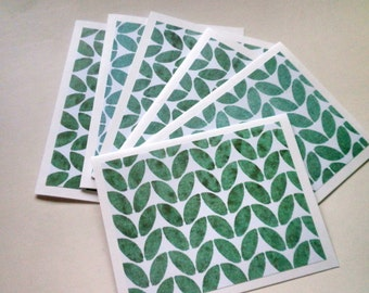 LEAF Pattern Note Card Set of Six