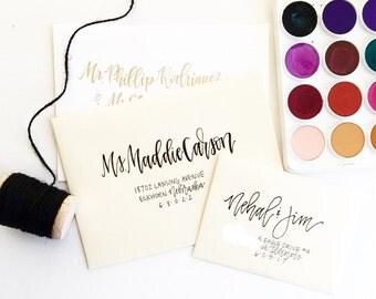 Wedding Envelope Calligraphy / Wedding Envelopes / Wedding Envelope Addressing / Envelope Addressing / Wedding / Wedding Calligraphy