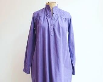 Vintage indian cotton hippie seventies boho dress tunic s/m
